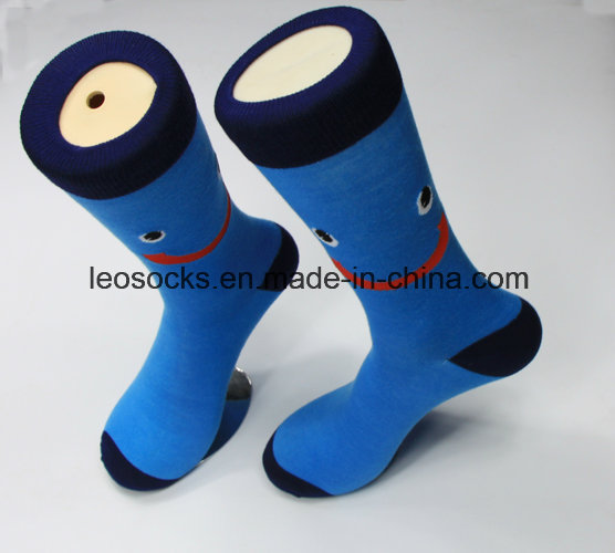Simple Style Wholesale Striped Cotton Fashion Business Men Socks