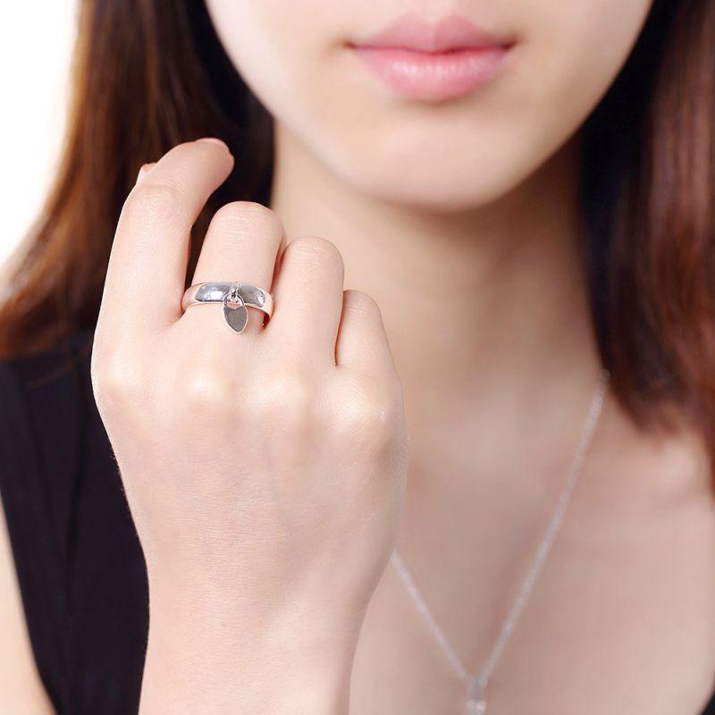 Hotsale Small Key Women Rings Silver Plated Fashion Ring Made in Yiwu Zhejiang
