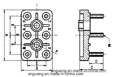 Motor Terminal Blocks with Galvanized Iron Bolts