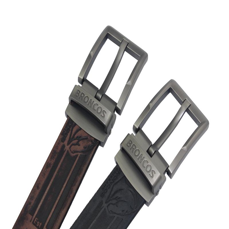 Alloy Buckle Calf Leather Waist Belt for Men
