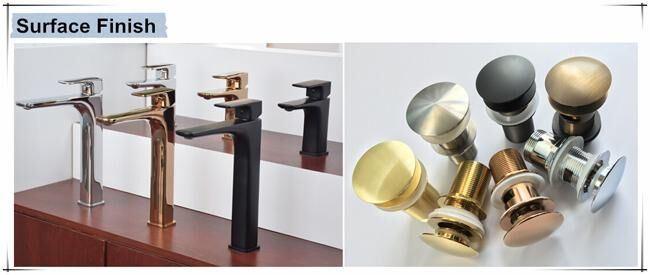 Jd-Sb48 Deck Mounted Tap Round Basin Mixer SS304 Basin Faucet