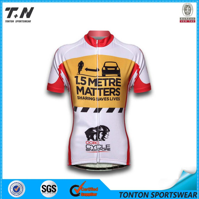 Custom Coolmax Sublimation Cycling Sportswear