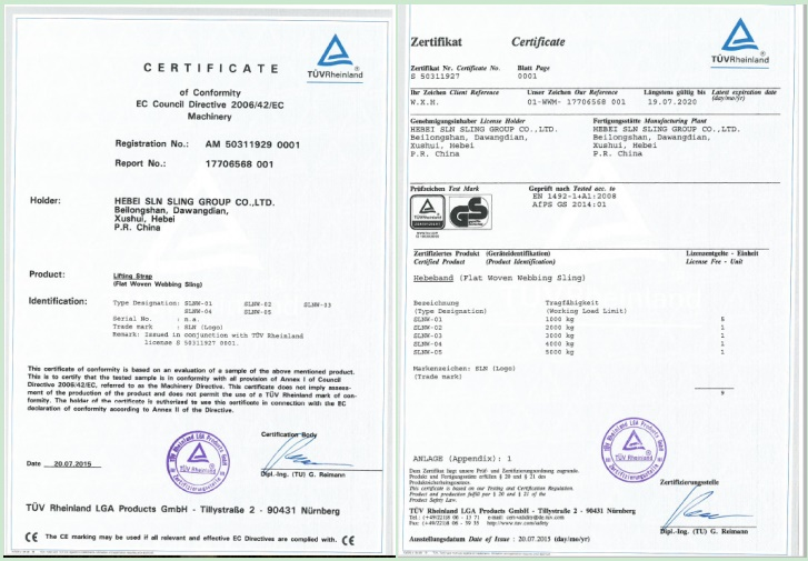 100% Polyester Lifting Sling Heavy Duty Safety Belt 4