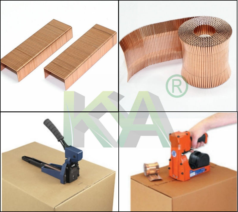 (3522) Copper Carton Close Staples for Packaging