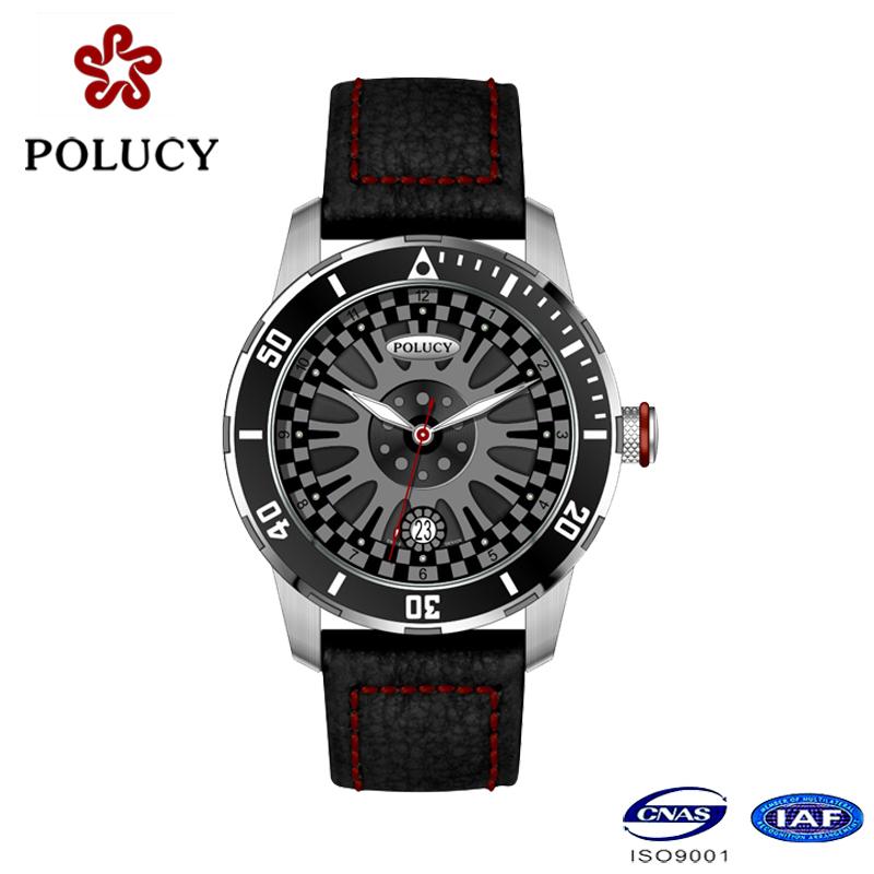 Wristwatch Factory Custom Genuine Leather Watches Men