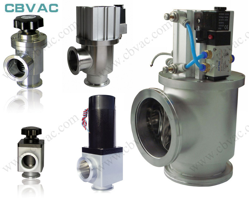 Vacuum Valve /CF Rotatable Flanges Angle Valve with Bellows / Manually Vacuum Valve