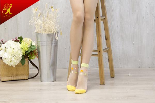 Women Summer Wear Thin Skin Color Socks 2015