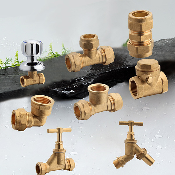Brass Compression Fittings Coupling Pipe Fitting Copper Pipe and Fittings