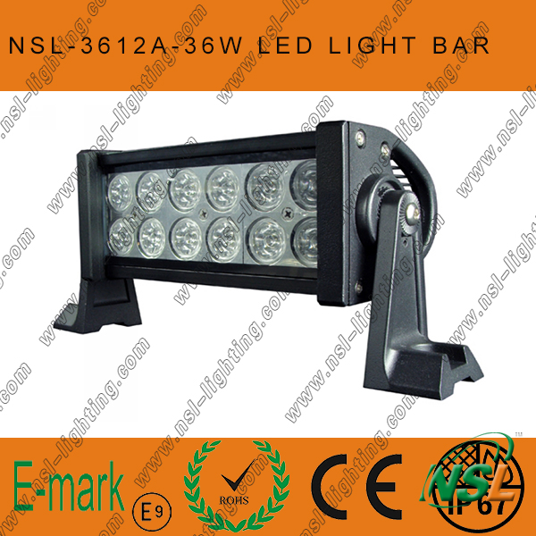 13.5'' 36W 12LED Offroad Light Bars for Truck Boat Hight Brighness IP67 LED Work Light Bar