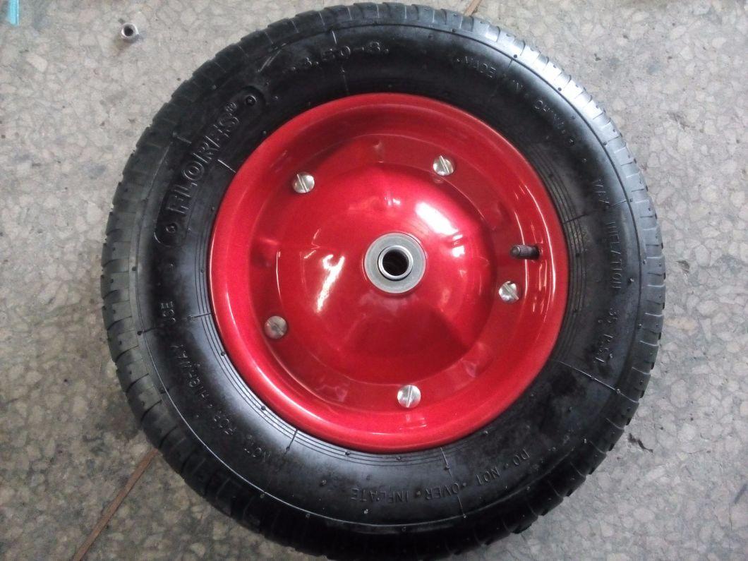 400-8 Pneumatic Rubber Wheelbarrow Wheel