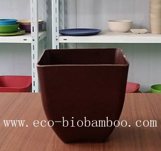 Biodegradable Bamboo Fiber Flower Pot (BC-F5007)