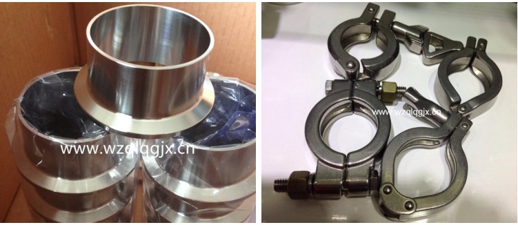 Sanitary Stainless Steel Fittings Clamp Connector with Pipe Clamp Price