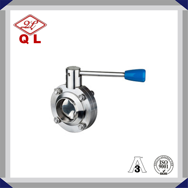 304 316 Food & Beverage Sanitary Stainless Steel Tri Clamp Butterfly Valve for Medical Equipment