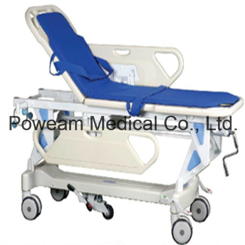 Ce Approved Medical Ambulance Patient Transfer Stretcher Trolley