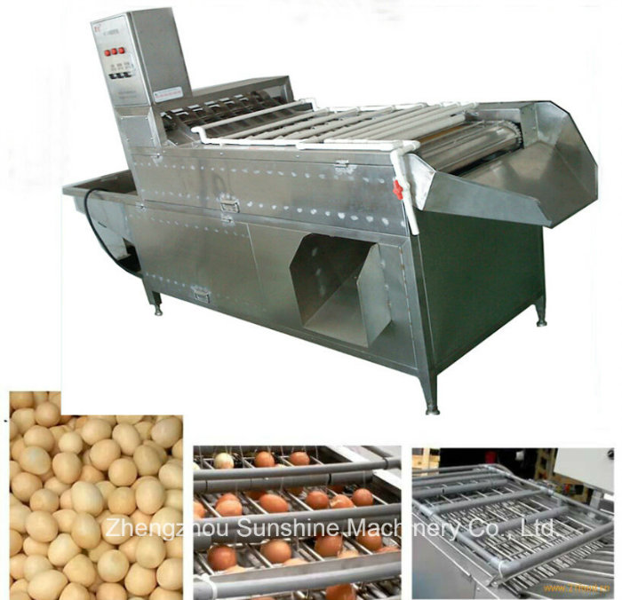 200kg High Efficient Durable Boiled Chicken Egg Peeling Machine