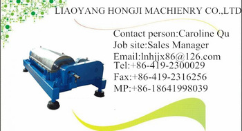 Liaoning Hongji Coconut Oil Decanter Centrifuge Separator Machine