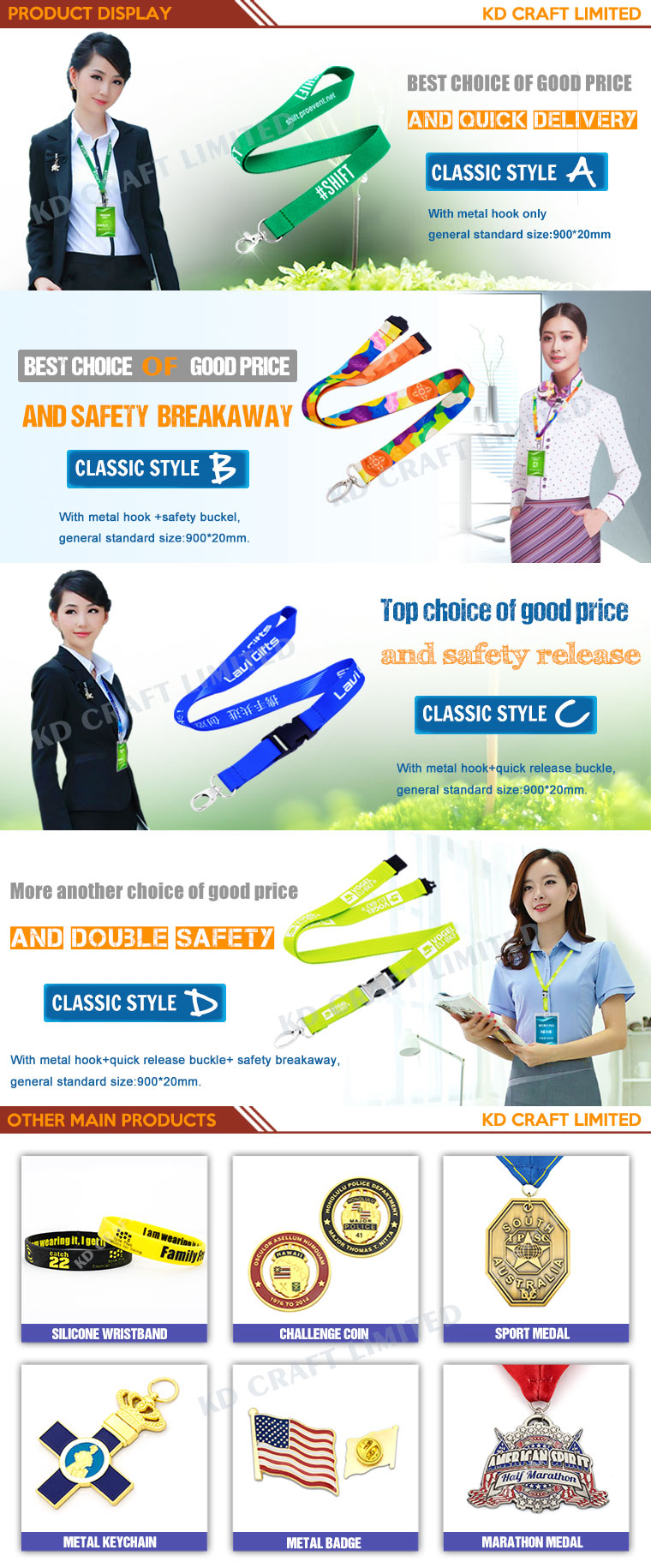 Wholesale Classic Style Flat Polyester Screen Printed Lanyard at Factory Price From China