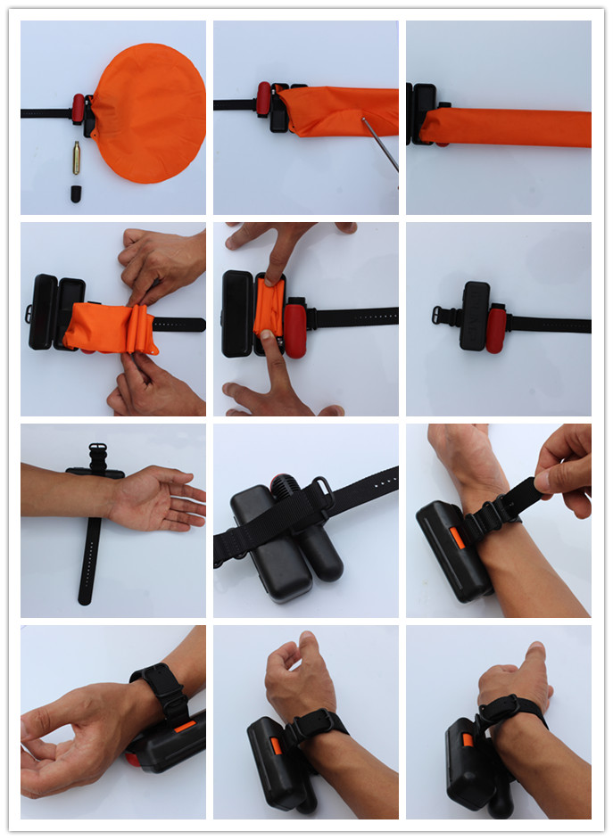 Ipump High Quality Self Inflating Underwater Saving Life Wristband