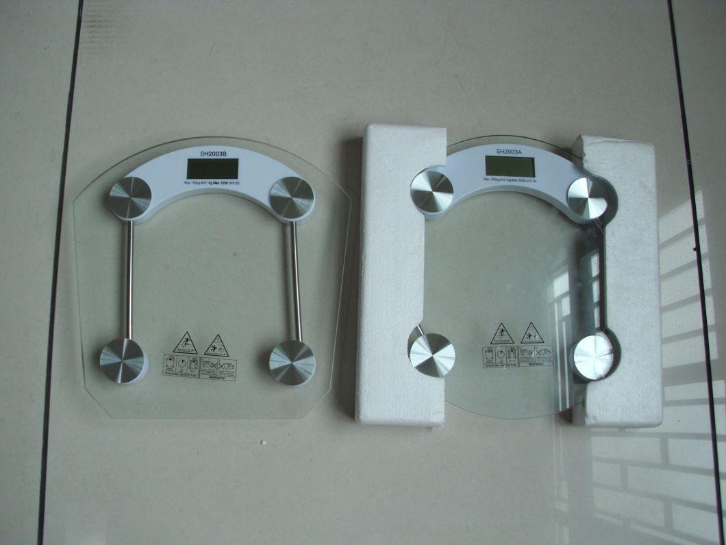 180kg Electronic Digital Body Fat Glass Bathroom Scale