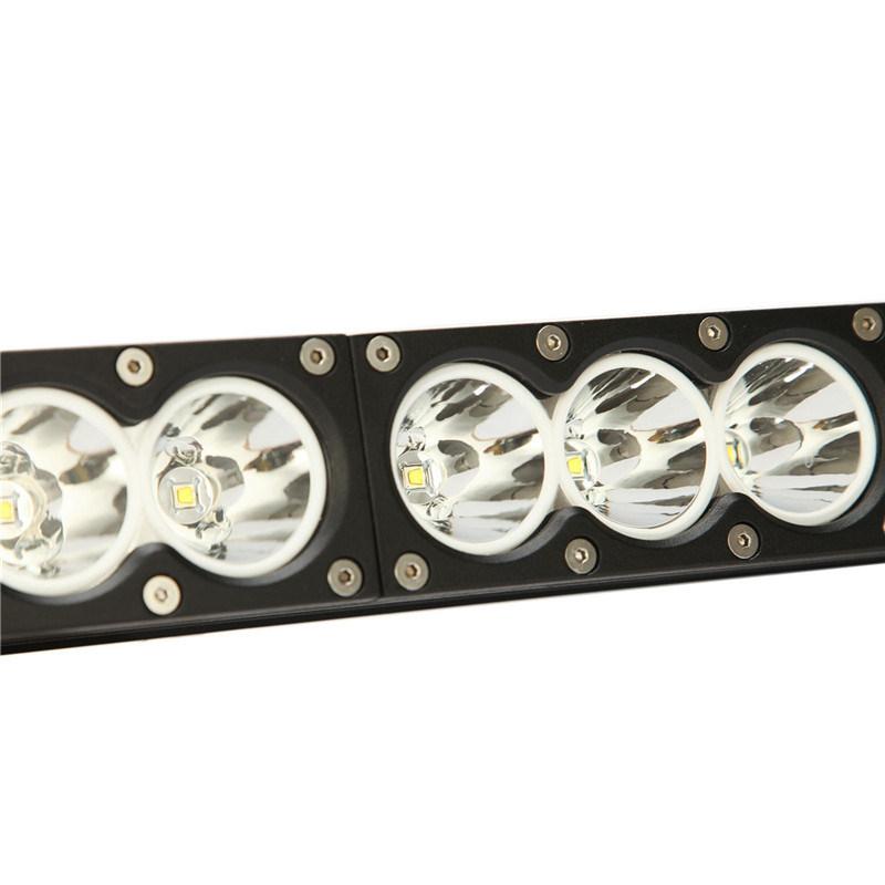 Single Row 30W, 60W, 90W, 120W, 150W, 180W, 210W, 240W, 270W, 300W 9-60V CREE White/Amber Lighting LED Light Bar for Car, Truck, 4X4, Offroad