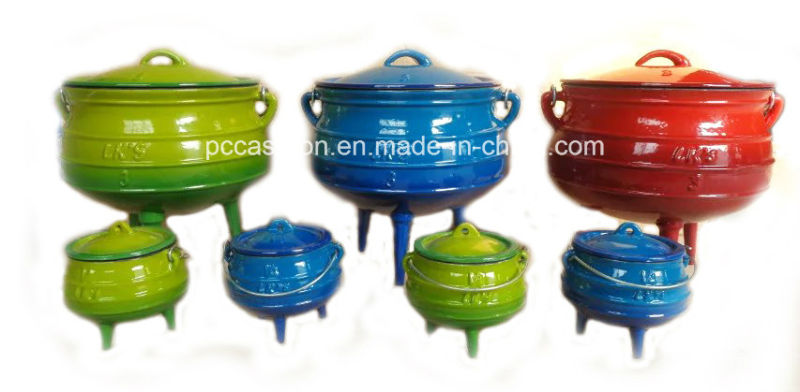 #2, #3, #4, #5 Enamel Cast Iron Potjie Pot with Three Leg/Cauldron