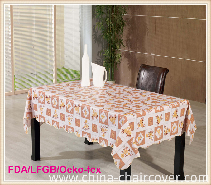 Fashionable PVC Table Cloth Factory Wholesale