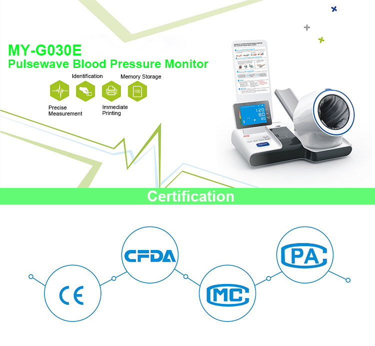 Ce Approved My-G030e Professional Fully Digital Arm Automatic Pulsewave Blood Pressure Monitor Machine with Printer