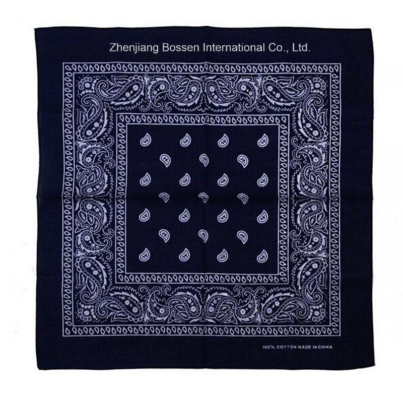 OEM Produce Customized Logo Printed Promotional Cotton Paisley Bandana Headwrap