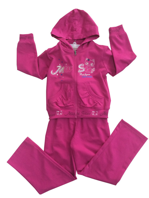 Fashion Girl Sport Wear in French Terry Children Hoodies Children Clothing (SWG-114)