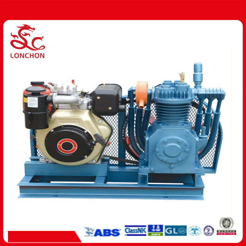 Stationary Marine Auxiliary Air Compressor by 186f Diesel Engine