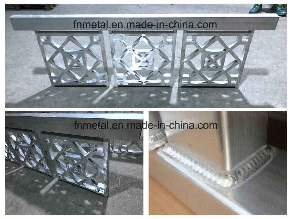 Square Aluminum Tube Balcony Handrail Product in PVDF Coating