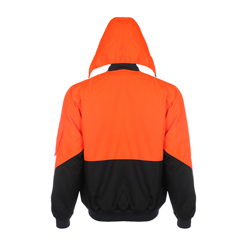 Reflective Safety Hooded Jacket Contrast Colour