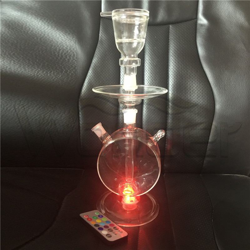 Small Hookahs for Sale Cheap Green Color and LED