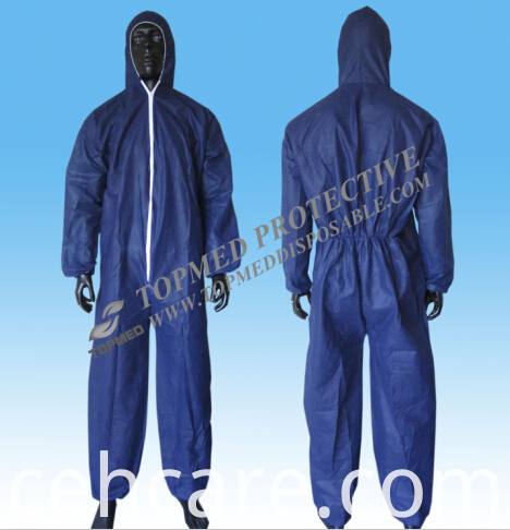 Disposable PP Coverall with Hood Topmed Brand
