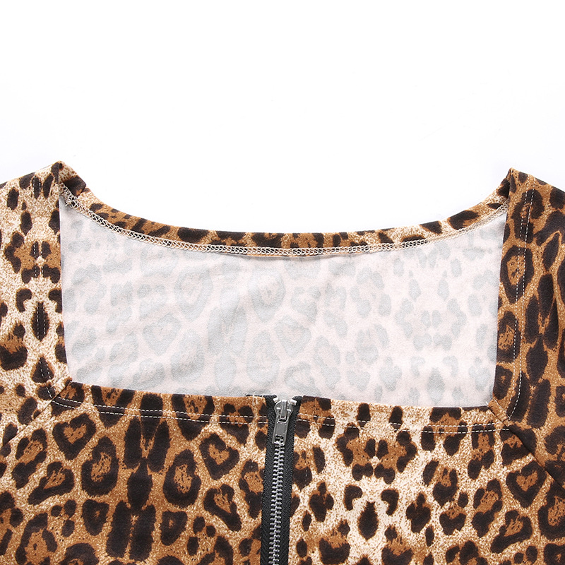 Long Sleeve Leopard Swimwear