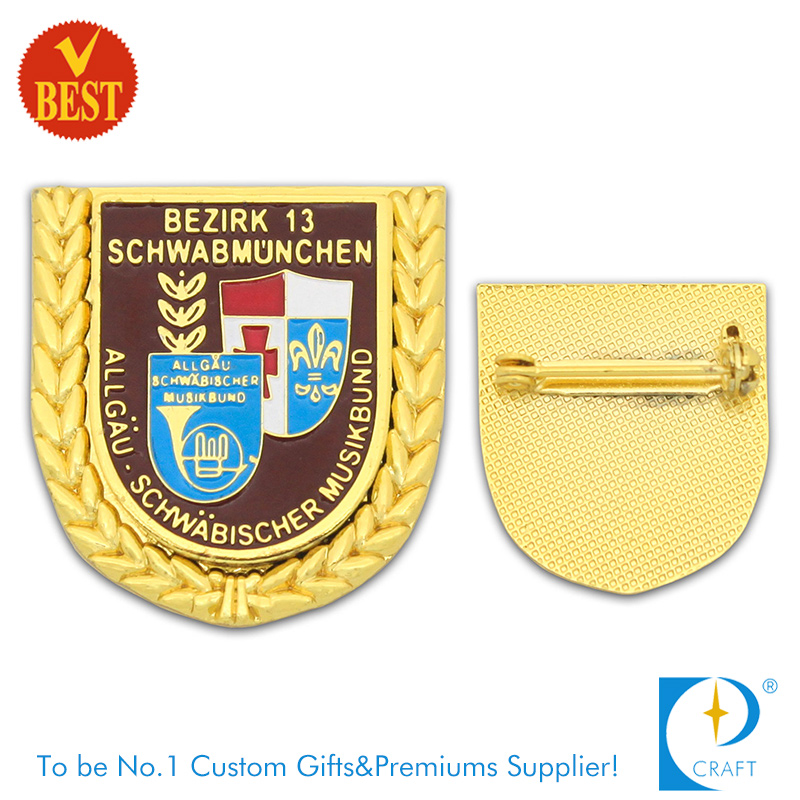 Company Customized Pin Badge for Company Logo with Gold Plating