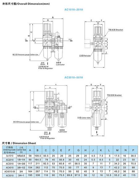 Frl Pneumatic Filter Lubricator Regulator AC4010-04