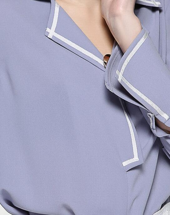 Latest Loose Comfortable V-Neck Fashion Women's Shirt