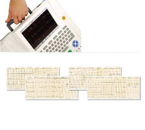 12 Twelve Leads Channel ECG Machine EKG Electrocardiograph Holter Touchscreen Ce