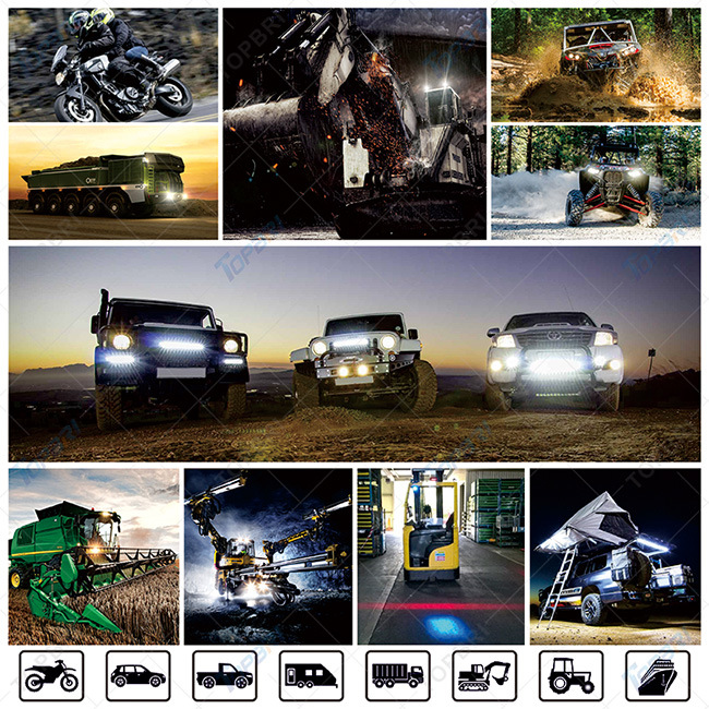 288W Double Row Curved LED off Road Light Bar for 4X4