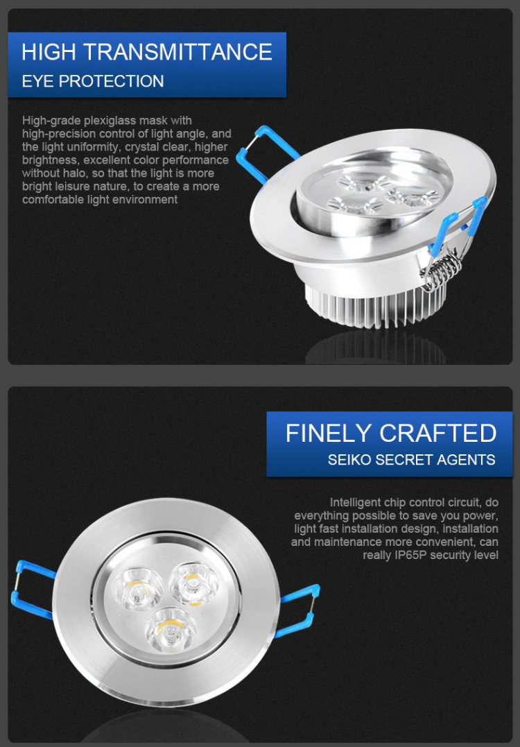 3W 5W Energy Saving Ceiling Light LED Downlight