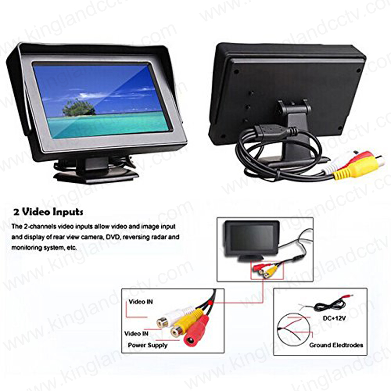 4.3inch HD Screen Reverse Rear View Monitor
