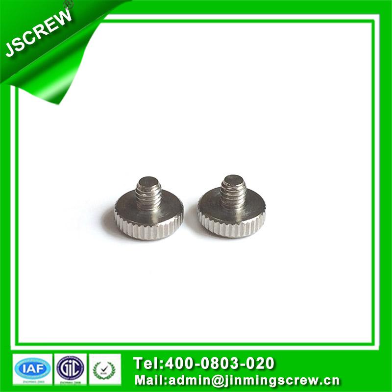 OEM Round Head Zinc Plated Steel Knurled Thumb Screw