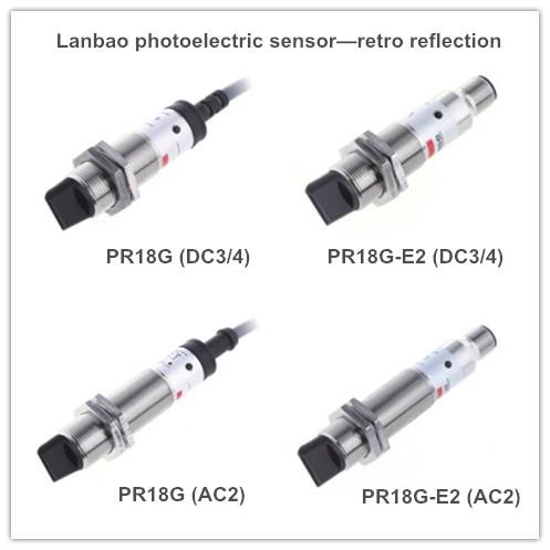Metal Retro Reflective Photoelectric Sensor (PR18 DC3/4)