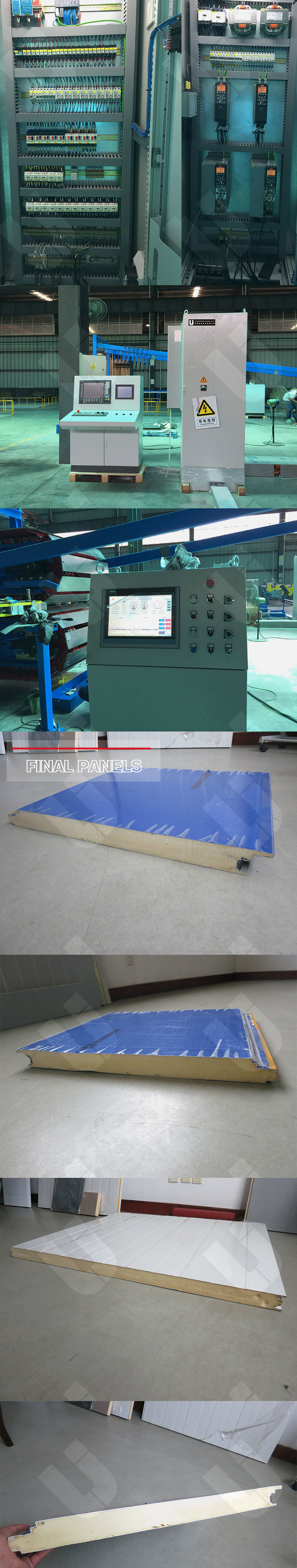PU PIR Rockwool Metal Insulated Sandwich Panel Machine