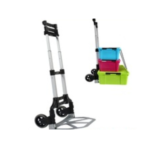 Two Wheels Adjustable Telescopic Aluminum Folding Trolley