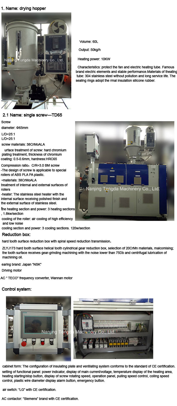 Twin Screw Extruder Machine for 3D Printer Filament Materials