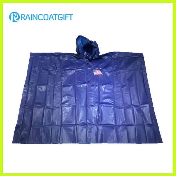 Emergency Waterproof PE Disposable Rain Poncho Rpe-013