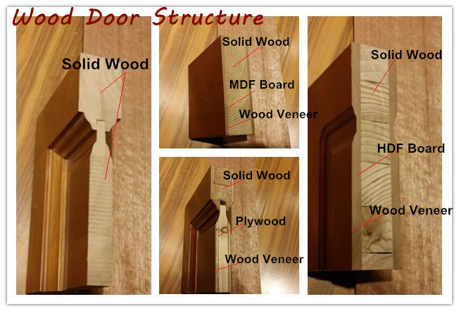 European Style Double Wood Door with Carving (DS-9010)