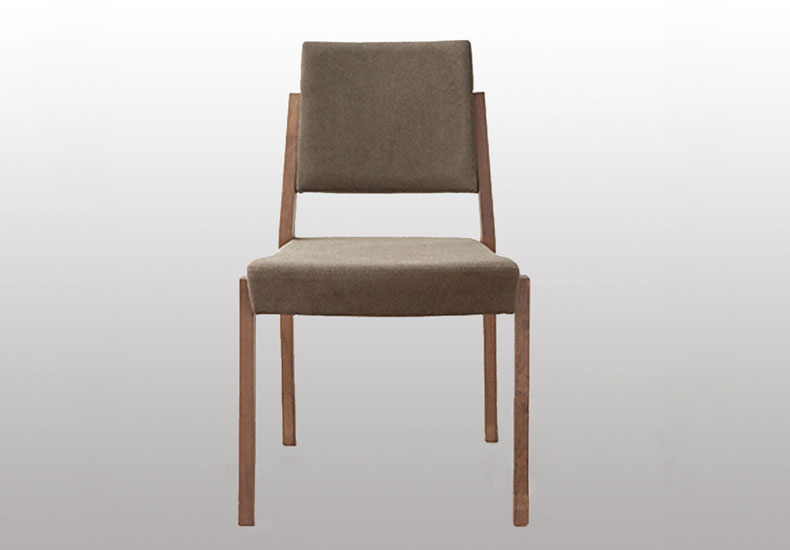 Solid Wooden Fabric Dining Chair with Famous Design